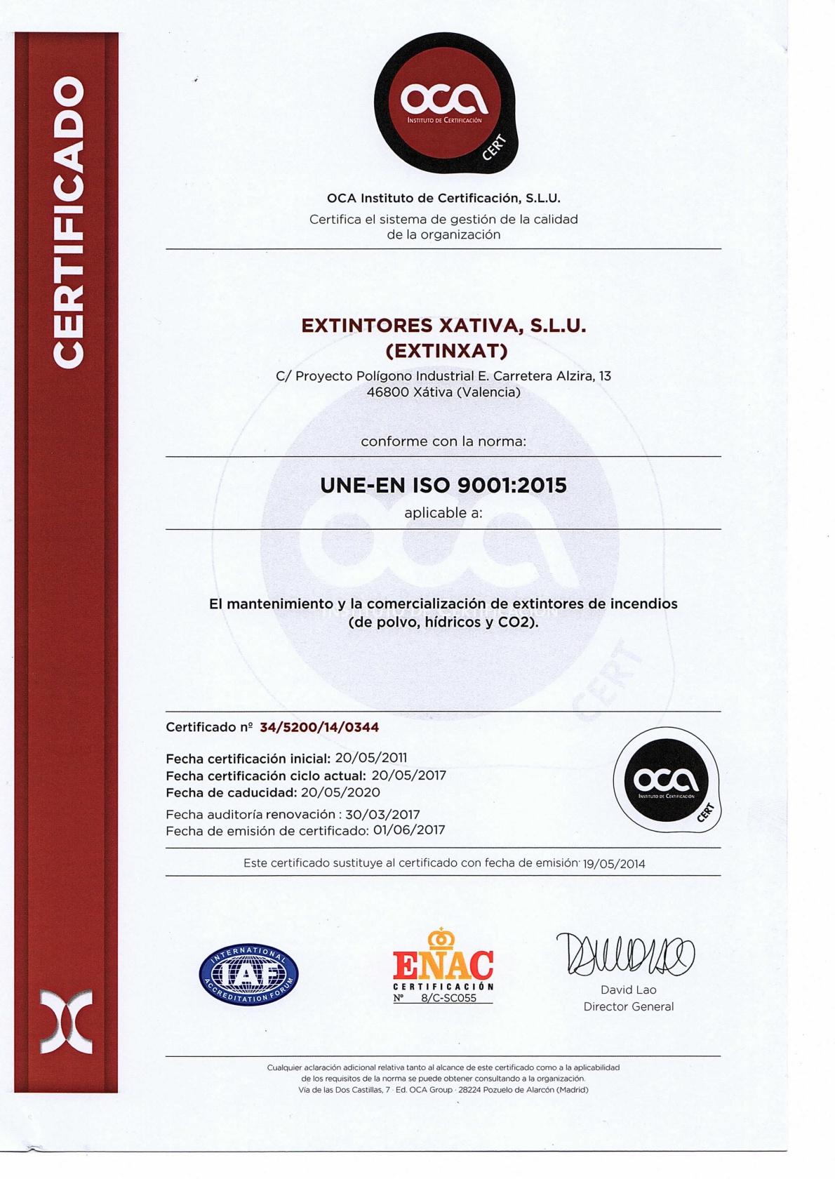 ACREDITACION ISO 9001-001